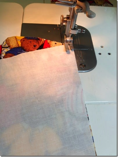 sewing starts