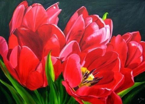 pintura-flores-amapolas
