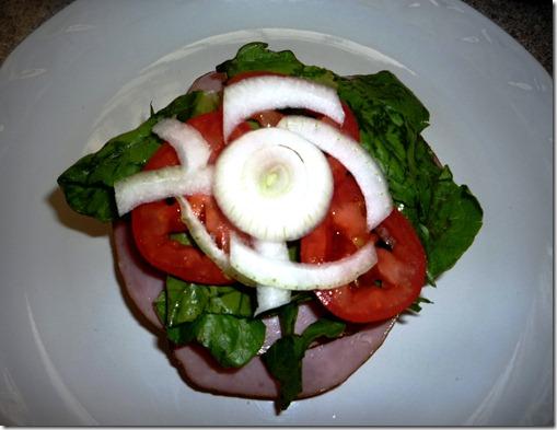 4. Lechuga,tomate, cebolla
