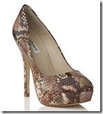 LK Bennett Snake Print Shoe