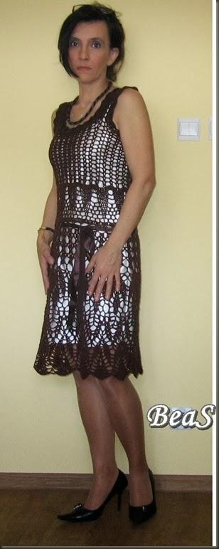 brązowa sukienka 225