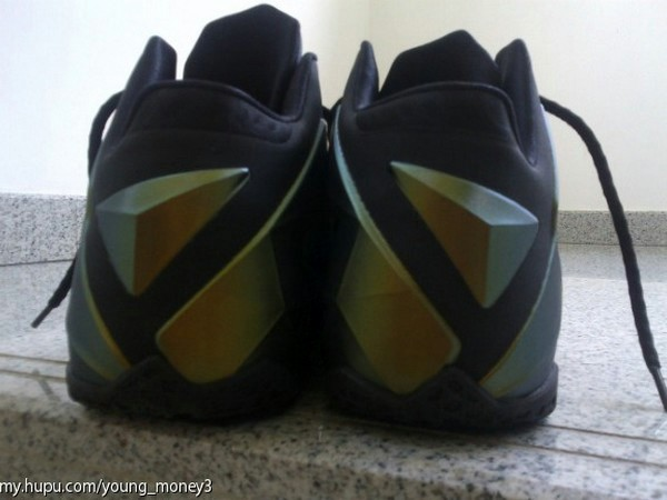 Nike LeBron XI 11 Black  Gold 8220Logoless8221 Sample