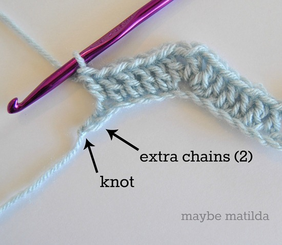How to get rid of extra chains without tearing your crochet apart!