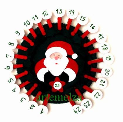 artemelza - calendário natal com 25 dias