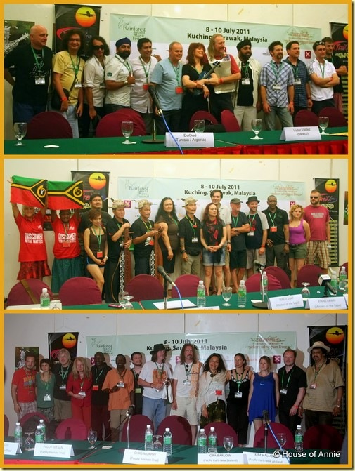 2011 Rainforest World Music Festival press conferences