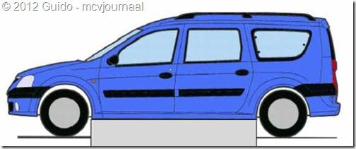 Papiermodel Dacia Logan MCV 03