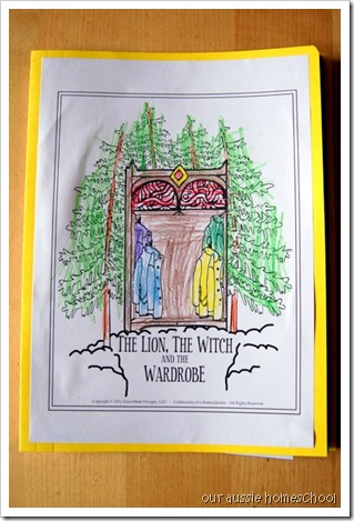 Our Aussie Homeschool ~ The Lion, the Witch, and the Wardrobe Lapbook