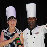 Chefs Sue and Menino Receive Congratulations - Celebrity Summit