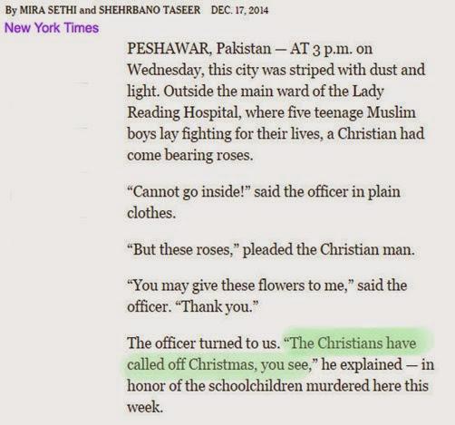 no xmas christians-Peshawar