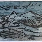 Montagne de Lure, aquatinte et vernis mou