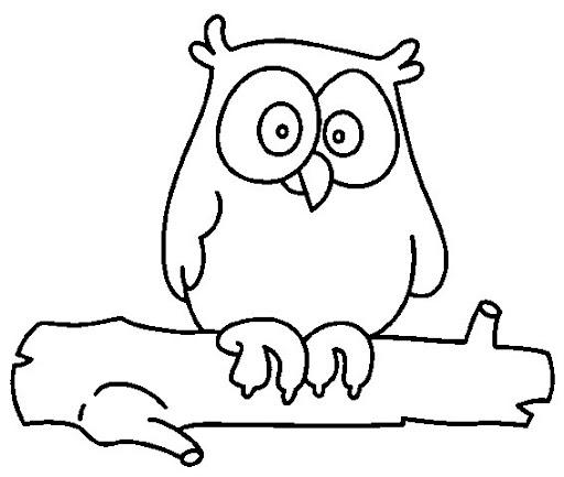 Dibujos para colorear buhos infantiles - Imagui