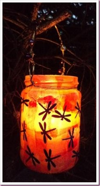 Decopatch Dragonfly Jar Lantern