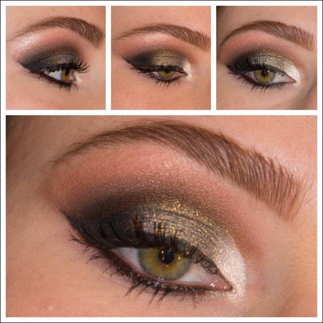 maquiagem com pigmentos glitter