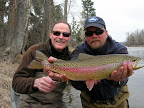 March 28, 2006 Joe Wenaweser caught this Bitterroot Rainbow - Eric Ederer is holding the fish