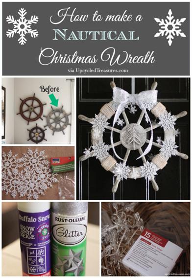 how-to-make-a-nautical-christmas-wreath-upcycledtreasures