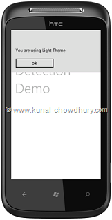 WP7 Demo - Light Theme