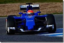 Felipe Nasr con la Sauber C34 nei test di Jerez