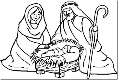 Dibujos cristianos navidad para colorear | Busco Imágenes