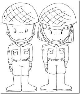 Dibujos da del soldado para colorear