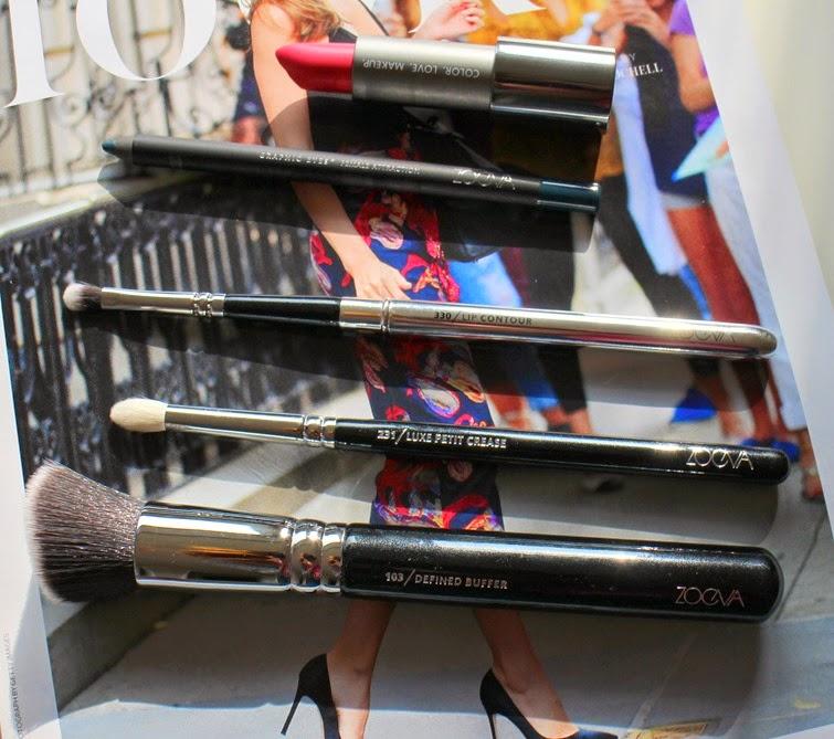 Zoeva-103-Defined-Buffer-Brush,231-Luxe-Petite-Crease-Brush,330-Lip-Contour-Brush,Female-Attraction-Eyeliner,Floral-Crown-Luxe-Cream-Lipstick
