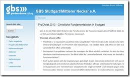 GBS giordano bruno stiftung Stuttgart
