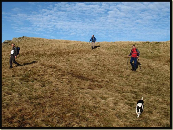 Descending in the sun from Blea Tarn Fell towards Standing Crag