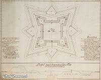 Profil van 't bovenstaande Fort nae d ordinaire stelling in de Fortificatie ### Bron: OudOmmen - ontvangen van Streekmuseum Ommen