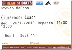 Killie vs Hearts stub