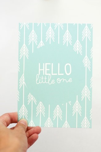 hello little one arrow print