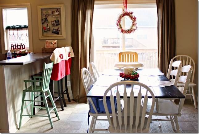 vintage green high chair courtesy of Past Time Treasures }