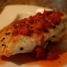 Gorgonzola Stuffed Chicken Breasts With Strawberry Gastrique