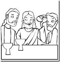 ultima cena jesus colorear e (6)