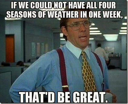 4 seasons in one week