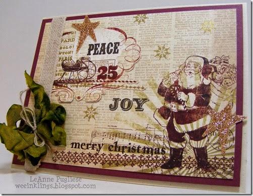 LeAnne Pugliese WeeInklings Merry Monday 146 Vintage Santa