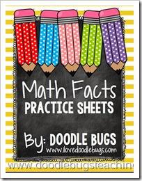 mathfactpracticesheets