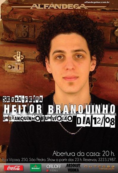 Flyer Heitor Branquinho - Alfândega Bar