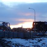 Reykjavik by dusk in Reykjavik, Hofuoborgarsvaeoi, Iceland