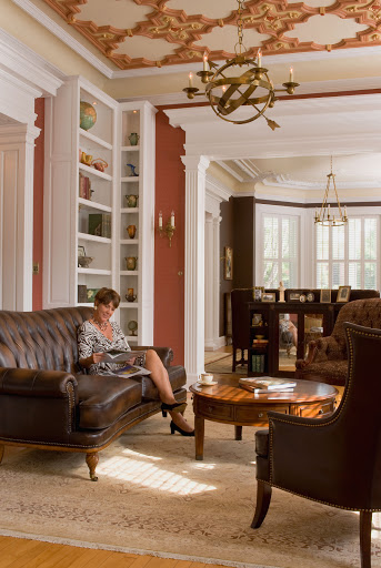 Library and Parlor  photo by Tony Giammarino, featuring Maury Place interior designer Ellen Norris of Caryatid Interiors
