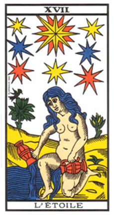La Estrella. Tarot de Marsella