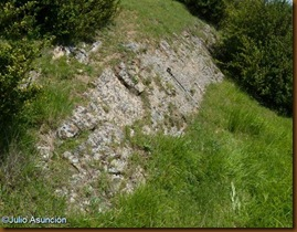 Restos de muralla natural - Castro de Salinas de Ibargoiti