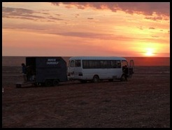 Australia, Coober Pedy, Bush camp at sunrise, 16 October 2012 (2)