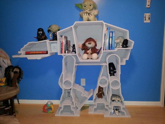 Star Wars AT-AT Imperial Bookcase from Whittled In Wood on Etsy