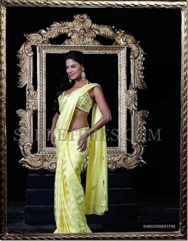 Veena_Malik_Yellow_Saree