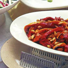 Roasted Bell Pepper Salad with Pine Nuts