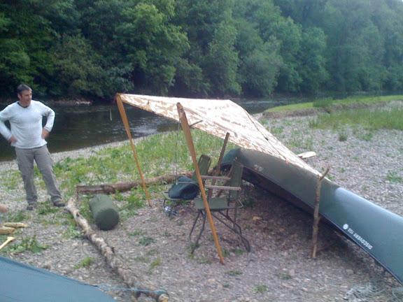 Nice tarp-rig: we were expecting rain in the night