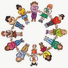 crianças em circulo
