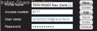 Tataphoton settings