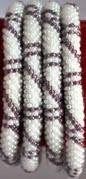 rollover bracelet white purple stripe