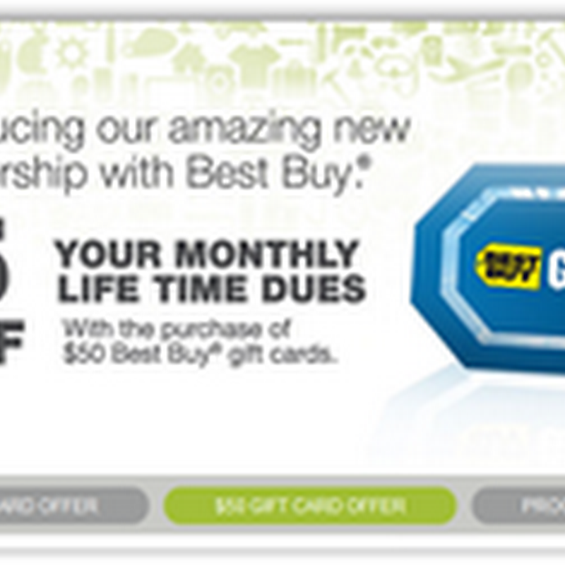 Life Time Fitness and Best Buy Provide Life Time Members Monthly Dues Savings When They Purchase Best Buy Gift Cards