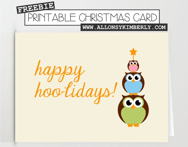Freebie: Christmas Card Printable | allonsykimberly.com